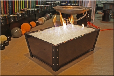 Black Transparent Fire Pit