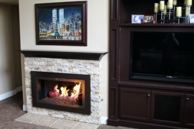 Rich Guerra custom fireplace surround