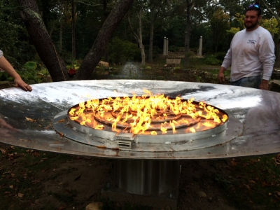 custom large propane fire pit