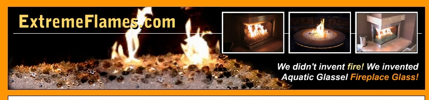 Moderustic Aquatic Glassel Fireplace Glass Rocks Propane Fireplaces